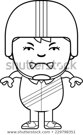 Cartoon colère voiture de course pilote garçon regarder Photo stock © cthoman