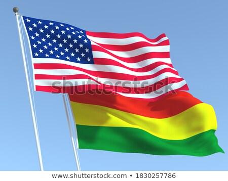 Kettő integet zászlók Egyesült Államok Bolívia izolált Stock fotó © MikhailMishchenko