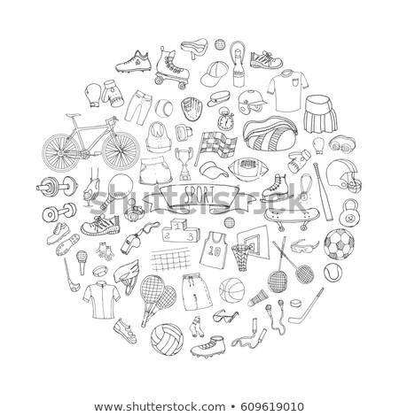 Hockey helmet hand drawn outline doodle icon. Stock photo © RAStudio