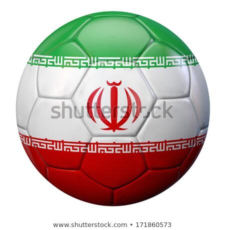 Iráni zászló izolált fehér Irán háromdimenziós Stock fotó © daboost