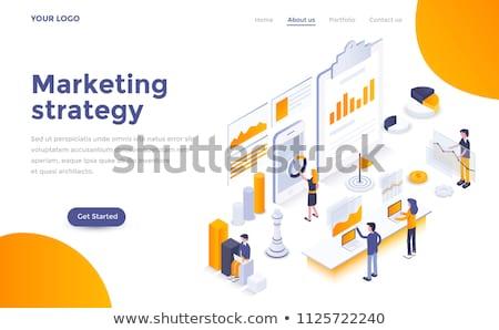 data analysis   flat design style colorful illustration stock photo © decorwithme