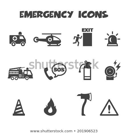 Urgence hélicoptère icône noir ciel design Photo stock © Imaagio
