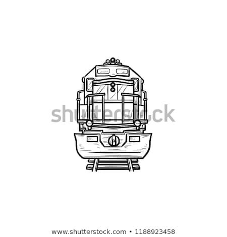 voorstads- · elektrische · trein · icon · cirkel · business - stockfoto © rastudio