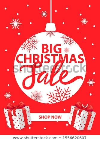 Karácsony vásár bolt most prospektus új év Stock fotó © robuart