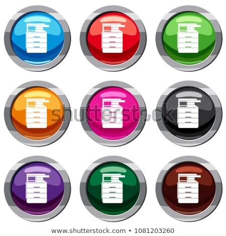 Icono impresora escáner trabajo de oficina estilo Foto stock © ussr