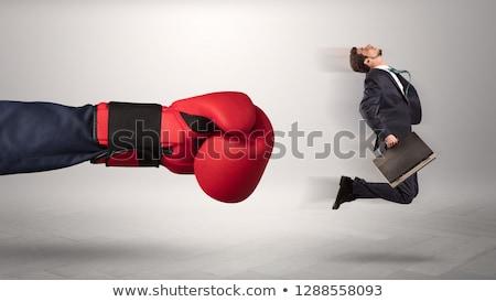 grande · empresário · pequeno · voador · longe - foto stock © ra2studio