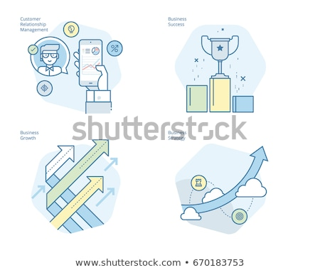 Award and Banners Icons Set Vector Illustration Stock photo © robuart
