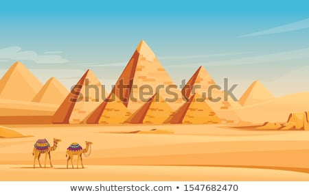 Egyptian pyramid in desert Stock photo © Givaga
