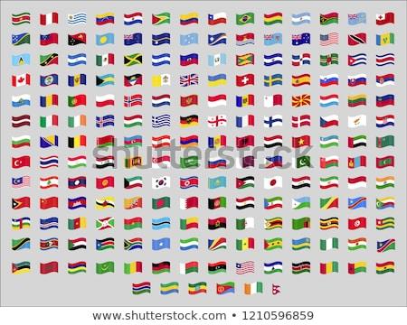 Ingesteld vlaggen iconen geïsoleerd officieel Stockfoto © MarySan