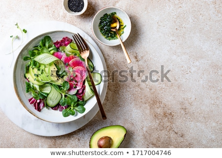Salad with lamb's lettuce and fresh radish sprouts Stock photo © madeleine_steinbach