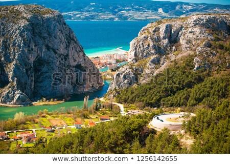 Rio desfiladeiro boca região Croácia Foto stock © xbrchx