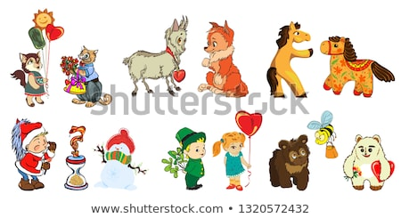 funny pictures for children and design of various children s products cards books stock photo © heliburcka