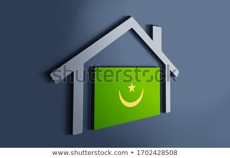 House with flag of mauritania Stock photo © MikhailMishchenko