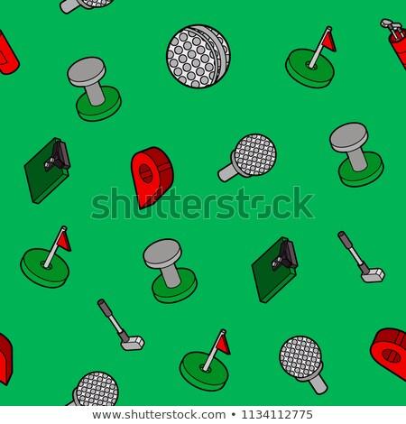 jogador · de · golfe · vetor · golfball · grama · golfe - foto stock © netkov1
