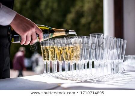 ウェイター シャンパン 眼鏡 宴会 ワイン 表 ストックフォト © dashapetrenko