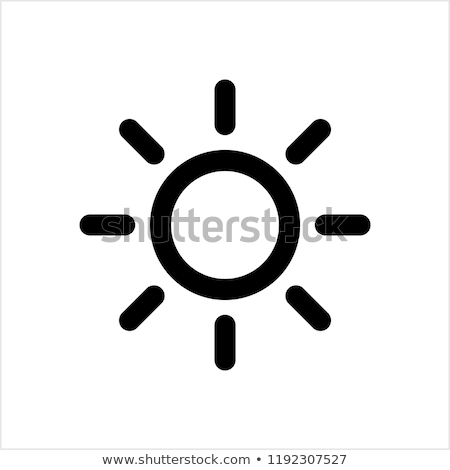 sun icon stock photo © smoki