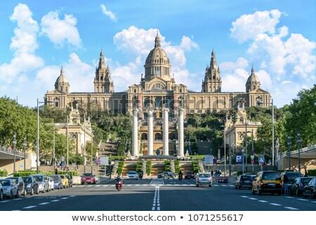 Sanat müze Barcelona çeşme İspanya şehir Stok fotoğraf © artjazz
