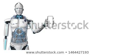 гуманоид робота помощник больницу медицинской стетоскоп Сток-фото © limbi007