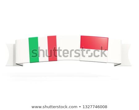 バナー 2 広場 フラグ イタリア インドネシア ストックフォト © MikhailMishchenko