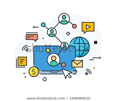 Sikeres csapat promóció közösségi hálózatok vektor marketing stratégia Stock fotó © robuart