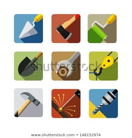 Hacha vector icono aislado jardín Foto stock © nosik
