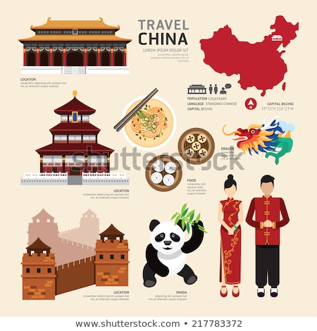 Travel to China. Set of icons Сток-фото © netkov1