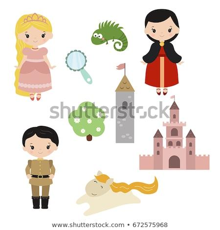 vetor · pequeno · princesa · coleção · conjunto · bonitinho - foto stock © vetrakori