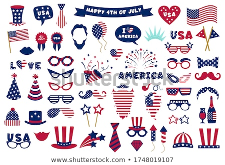 Stok fotoğraf: Usa Patriotic Balloons