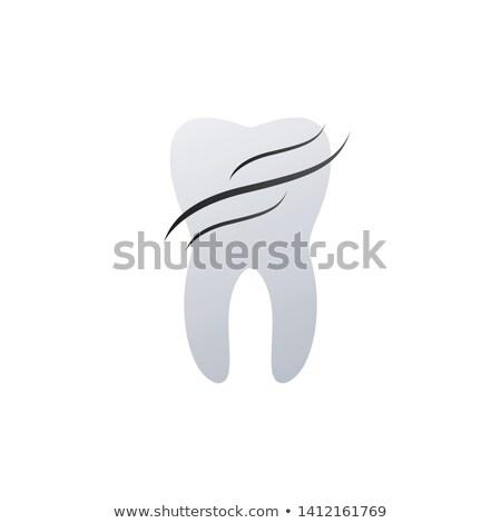 Diş diş logo tasarımı dalgalar sağlık koruma Stok fotoğraf © kyryloff