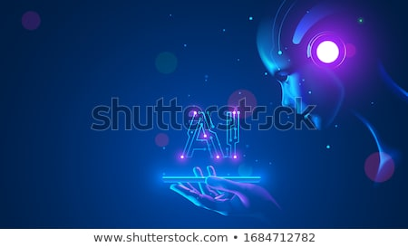 Insansı robot beyaz ekran 3d illustration Stok fotoğraf © limbi007