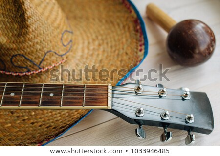 Cinco de Mayo Acoustic Guitar and Sombrero Hat Stock photo © robuart
