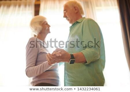 affettuoso · senior · marito · holding · hands - foto d'archivio © pressmaster