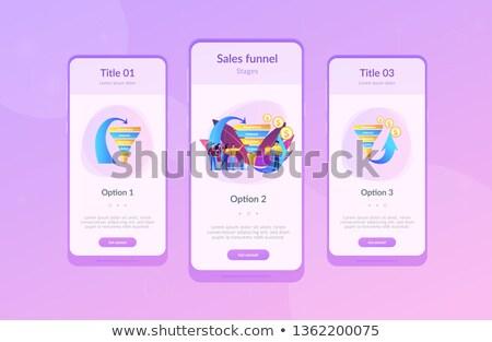 Eladó tölcsér vezetőség app interfész sablon Stock fotó © RAStudio