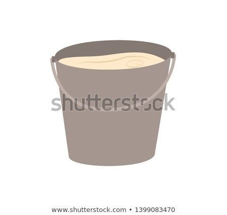 Milk in Metal Thank, Fresh Dairy Product Vector Stock photo © robuart