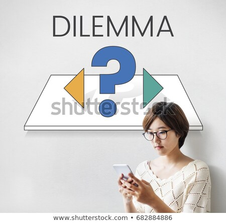Undecided young woman with a moral dilemma Stock photo © Giulio_Fornasar