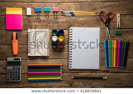 garçon · fille · leçon · école - photo stock © robuart