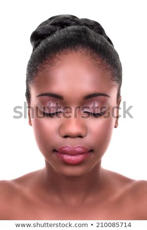 Salon de beauté belle visage belle fille tous les jours Photo stock © serdechny
