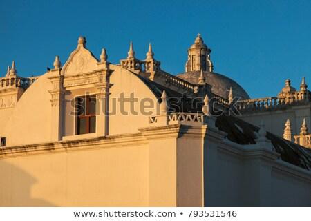 La igreja Nicarágua céu azul linha do horizonte Foto stock © benkrut