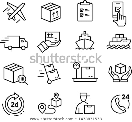 Kontenerowiec ikona kolor drabiny projektu działalności Zdjęcia stock © angelp