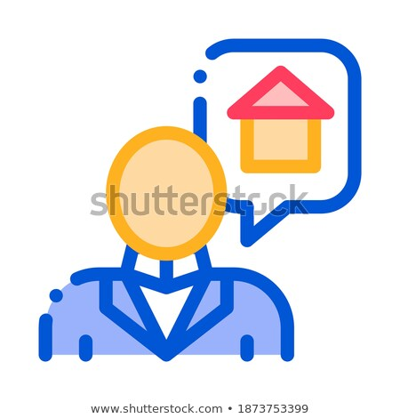 Character Man Thinking Dream Buy House Vector Icon Stock photo © pikepicture