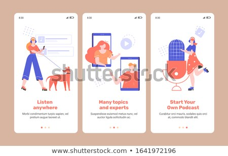 Podcast inhoud radio reclame omroep station Stockfoto © RAStudio