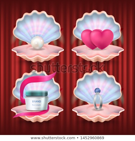Pearl and Hearts, Engagement Ring and Brand Lotion Stock photo © robuart