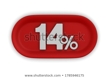 fourteen percent on white background. Isolated 3D illustration Stock photo © ISerg