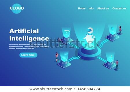 Inteligência artificial financiamento aterrissagem página futurista máquina Foto stock © RAStudio