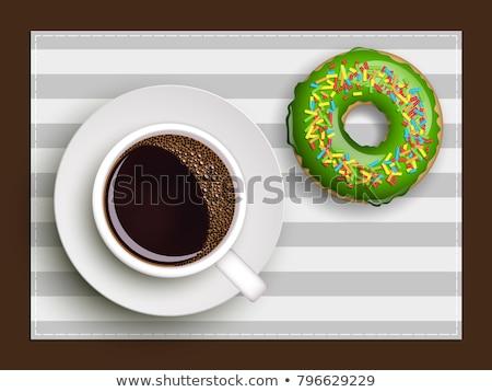 Koffie donut bakkerij dessert java vector Stockfoto © robuart