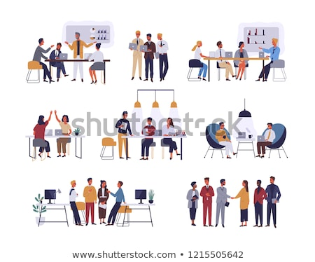 Business People and Offices Illustrations Set Stock photo © robuart