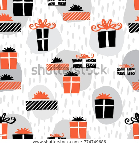 Hand drawn red pattern with different object Stock photo © ShustrikS