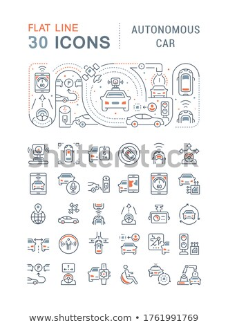 Navigation - vector line design style banners set Stock photo © Decorwithme