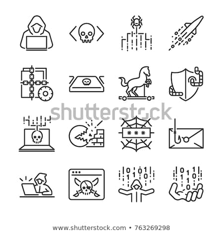 Hacker Icon Vector Outline Illustration Stock photo © pikepicture