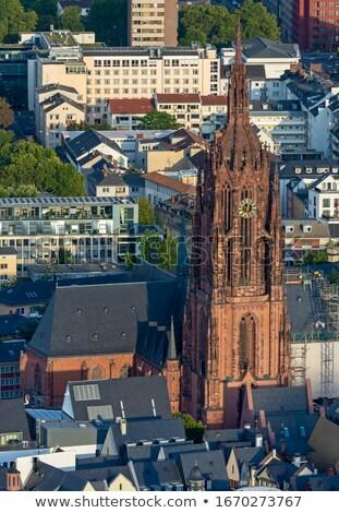Luchtfoto kathedraal Frankfurt Duitsland gebouw stad Stockfoto © manfredxy